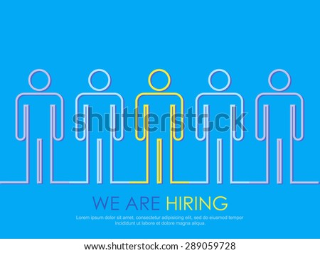 Job search and career choice employment concept. Vector illustration. - stock vector