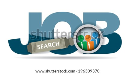 Job search - business concept with abstract illustration - stock vector