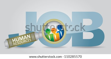 Job search - human resource concept - abstract illustration with human figures