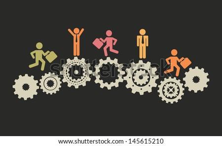 jobs design over black background vector illustration  - stock vector
