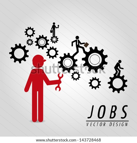 jobs design over gray background vector illustration - stock vector
