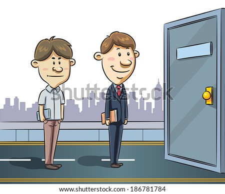 Jobs Seeker - stock vector