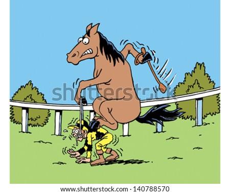Jockey & Horse - stock vector