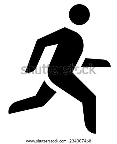 Jogging icon - stock vector