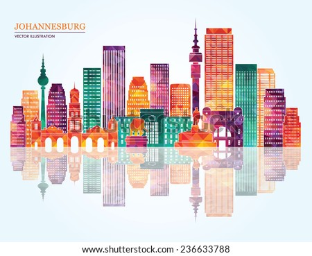 Johannesburg sunset stock images royalty free images vectors johannesburg city detailed skyline silhouette vector illustration thecheapjerseys Images