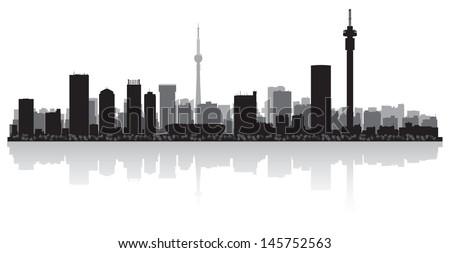 Johannesburg city skyline silhouette vector illustration stock johannesburg city skyline silhouette vector illustration thecheapjerseys Images