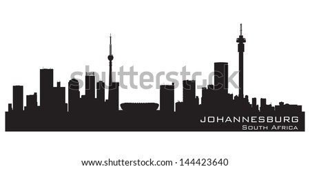 Johannesburg, South Africa skyline. Detailed silhouette. Vector illustration - stock vector