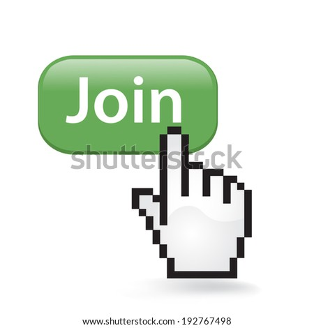 Join Button Click - stock vector