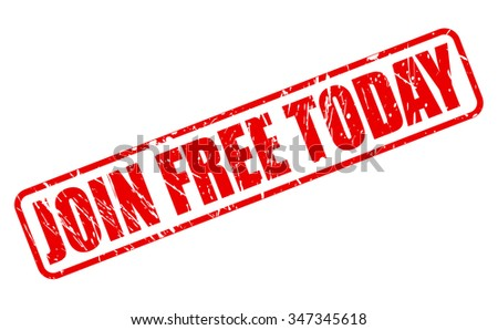 JOIN FREE TODAY red stamp text on white - stock vector