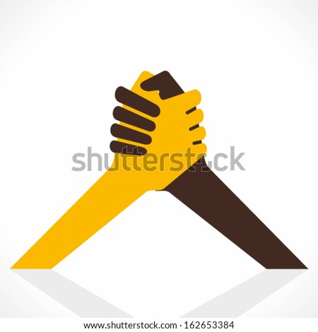 join hand or hand shake vector - stock vector