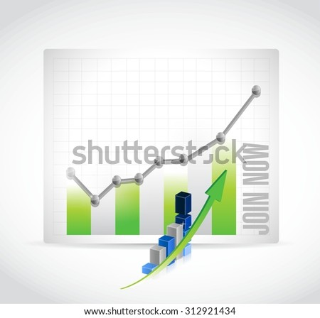 Join Now business graph sign concept illustration design graphic - stock vector