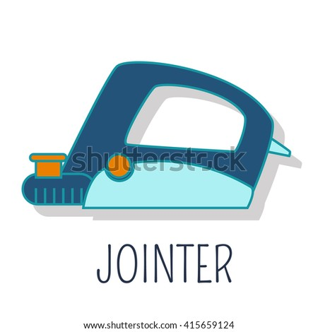 Jointer, colorful flat icon - stock vector