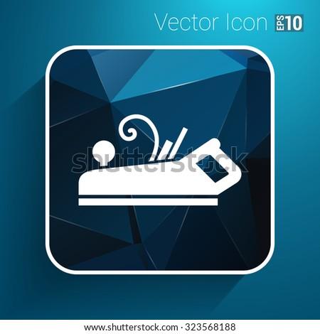 Jointer plane icon vector button logo symbol concept. - stock vector