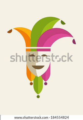 joker card - stock vector