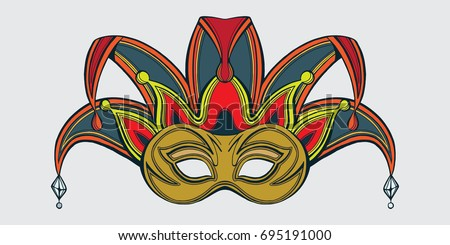 Joker mask stock images royalty free images vectors for Joker mask template