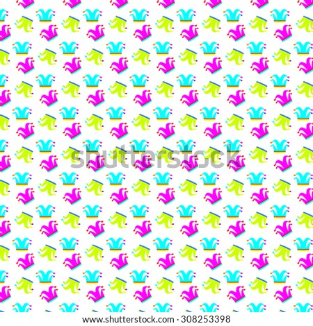 joker pattern backgrounds - stock vector