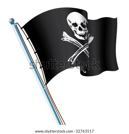 Jolly Roger black flag