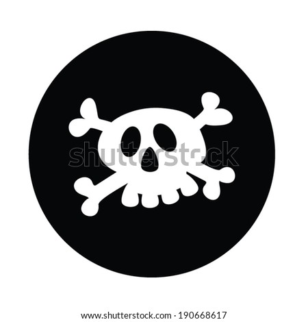 Jolly Roger colorful vector illustration