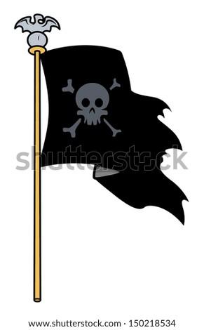 Jolly Roger Flag - Vector Cartoon Illustration - stock vector