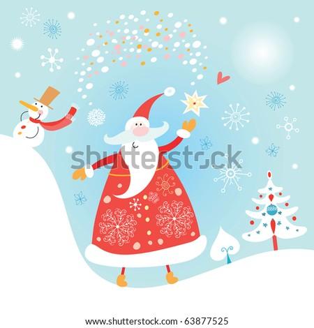 Jolly Santa Claus - stock vector