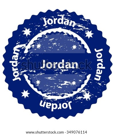 Jordan Country Grunge Stamp - stock vector