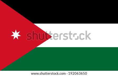 Jordan flag vector. - stock vector