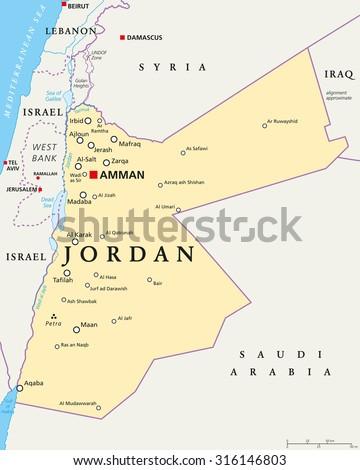 Jordan Map Stock Images RoyaltyFree Images Vectors Shutterstock - Jordan map
