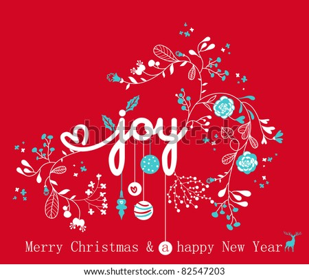 joy of christmas - stock vector