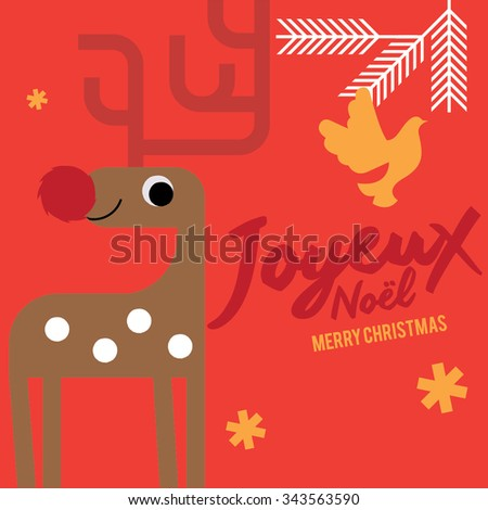 Joyeux noel means merry christmas french stock vector 343563596 joyeux noel means merry christmas in french white christmas reindeer christmas invitation christmas stopboris Choice Image