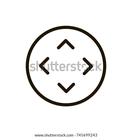 Joystick Flat Icon Single High Quality Stock Vector 745699243