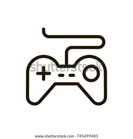 Joystick Flat Icon Single High Quality Stock Vector 745699483