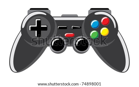 joystick icon created by vector - stock vector