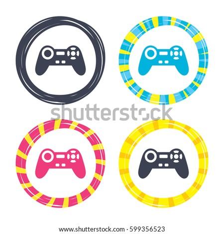 Joystick Sign Icon Video Game Symbol Stock Vector 599356523