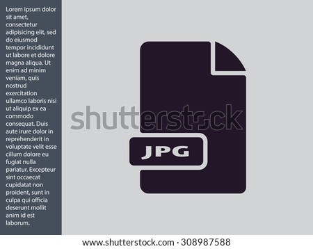 JPG image file extension. vector icon  - stock vector