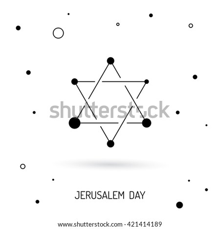 Judaism Religion Symbols Vector Israel Judaism Stock Photo Photo