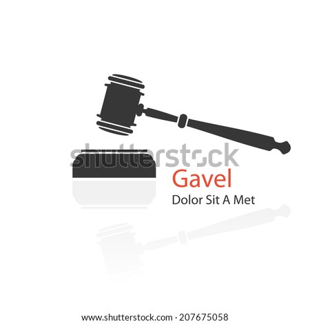 judge gavel icon on white background. vector illustration - stock vector