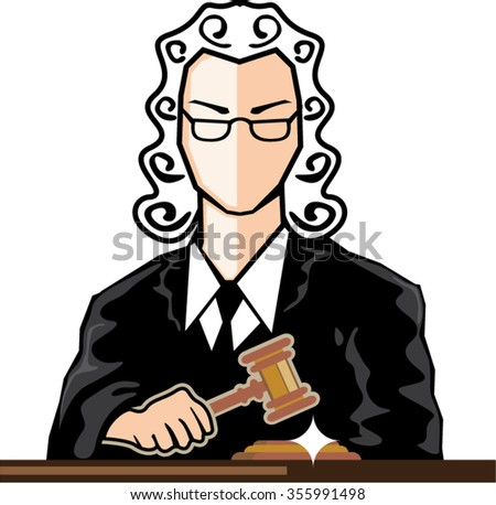 Judge vector persona - stock vector