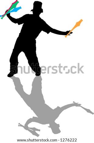 juggler - stock vector