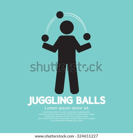 Juggling Balls Symbol Vector Illustration