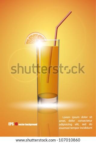 Juice background - stock vector