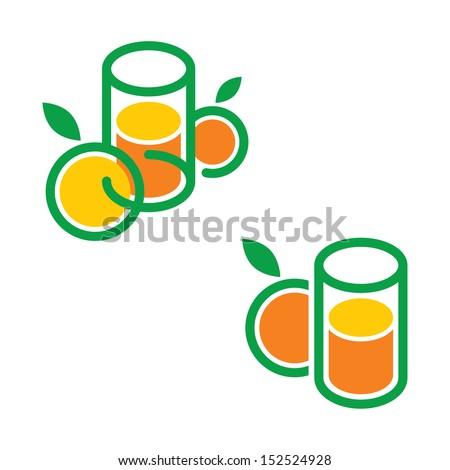 Juice drink  - stock vector