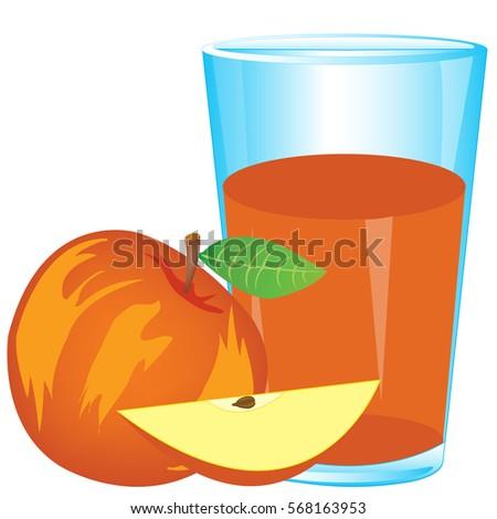 Juice Red Apple Stock Vector 568163953 - Shutterstock