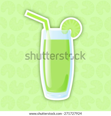 Juice Icon. Celery. Vector illustration for web design, graphic design, icons and stickers