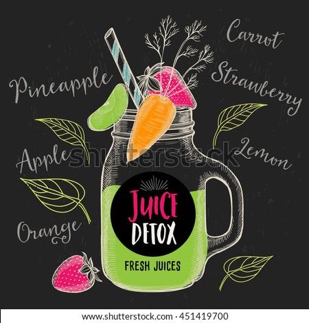 Stock Vector Juice Menu Placemat Drink Restaurant Brochure Dessert Template Design Vintage Creative Beverage Natural Fresh Fruit Retro