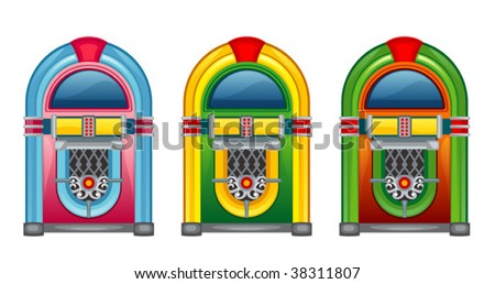 jukebox - stock vector