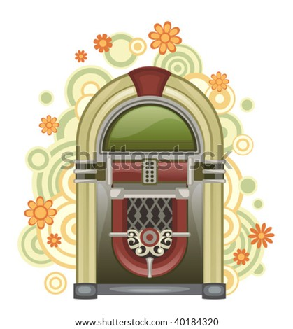 jukebox - stock vector