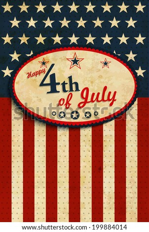 July 4 - stock vector