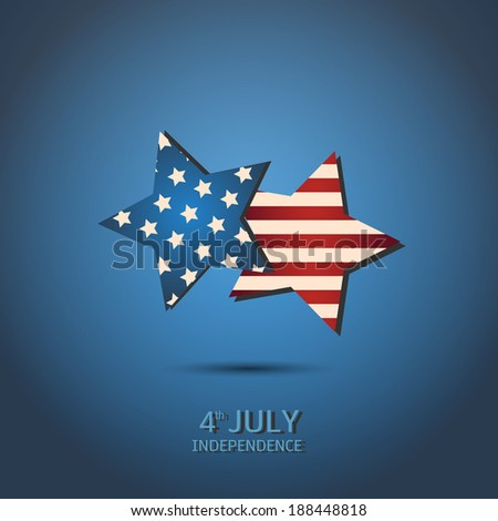 July 4  Independence Day,vector - stock vector