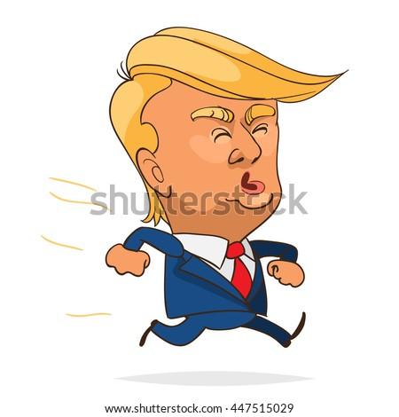 july 05 2016 character portrait donald stock vector 447515029 rh shutterstock com Donald Trump Cartoon donald trump face clipart