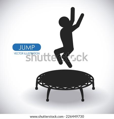 jump graphic design , vector illustration - stock vector